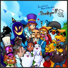 A Hat In Time, Time Games, Fandom Memes, Monster Art, Indie Games, Girl With Hat, Time Art, Drawing People, Mickey Mouse