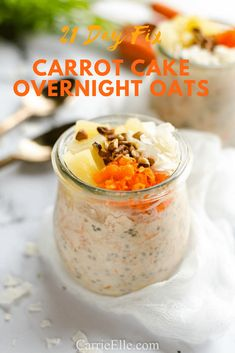Have your cake and eat it too, without all the calories! This healthy carrot cake overnight oats recipe tastes like dessert but you can eat it guilt free! Easy to make, make ahead and breakfast meal prep is done for the week! 21 Day Fix Breakfast, Breakfast Recipes, Breakfast Ideas, 21 Day Fix Meal Plan, Filling Food, Recipe 21, Healthy Food Delivery, Oatmeal Recipes, My Favorite Food