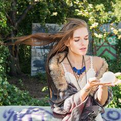 "❤ Crystal & Sage - Vergoldetes Collier ""Lapislazuli"" | melovely"