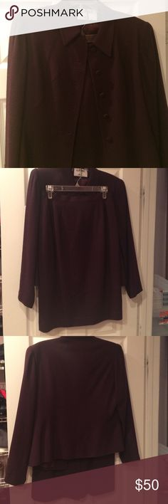 Dress suit-Business attire Deep purple dress suit.button on blaZer with zip up pencil skirt. Size 8 worn twice. More plum than purple. Kasper Other