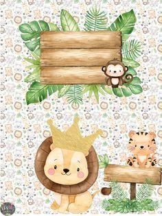 Jungle Theme Parties, Safari Theme, Safari Party Decorations, Baby Boy 1st Birthday Party, Foto Baby, Animal Birthday, Jolie Photo, Baby Art, Safari Animals