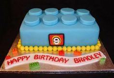 Lego Block/Brick Fondant Cake Lego Birthday Bash Image of Lego block birthday cake Bolo Fondant, Fondant Cakes, Cupcake Cakes, Lego Cupcakes, Cupcake Ideas, Lego Birthday Party, Cake Birthday, 5th Birthday, Birthday Ideas
