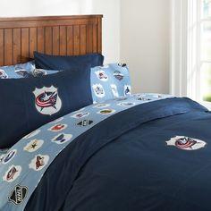 Columbus Blue Jackets Duvet Cover & Pillowcase   PBteen