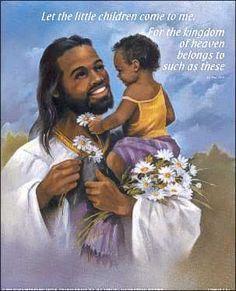 Jesus Is Black: Not White - Religion - Nigeria Black Love Art, Black Girl Art, Black Is Beautiful, Black Pic, Beautiful Artwork, Black Jesus Pictures, Black Art Pictures, Angel Pictures, African American Art