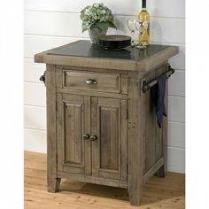 Jofran 941-86 - Slater Mill Pine Small Kitchen Island with Granite Top | Sale Price: $569.25