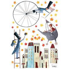 Stickers A3 les semeurs d'étoiles by Manuela Magni (29,7 x 42 cm) : Lilipinso - Garçon / Fille - Berceau Magique