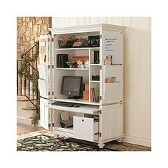 From Meets Home An Armoire Or Hidden Office In Disguise Pinterest Armoires Met And S