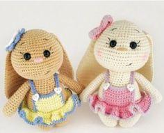 Mesmerizing Crochet an Amigurumi Rabbit Ideas. Lovely Crochet an Amigurumi Rabbit Ideas. Crochet Rabbit, Crochet Teddy, Easter Crochet, Crochet Patterns Amigurumi, Amigurumi Doll, Crochet Dolls, Knitting Patterns, Knitting Ideas, Stuffed Toys Patterns