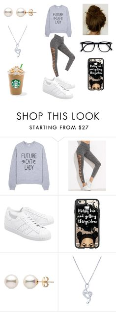"""Morning Starbucks"" by roxy-crushlings on Polyvore featuring adidas Originals, Casetify and BERRICLE"