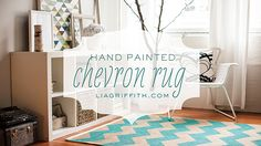 DIY Hand Painted Chevron Rug