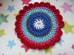 Ilona's blog: Oilily onderzetters haken, coasters crochet