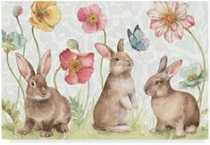 Spring Softies Bunnies I by Lisa Audit – Hase Bunny Painting, Bunny Drawing, Bunny Art, Drawing Art, Animals Watercolor, Watercolor Art, Coelho Peter, Spring Drawing, Easter Paintings