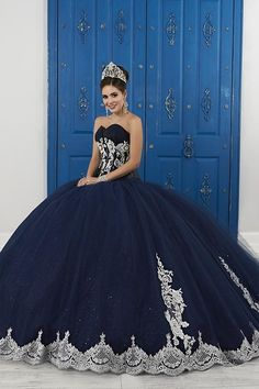 quinceanera dresses Strapless Sweetheart Glitter Dress by House of Wu LA Glitter Glitter by. Sweet 16 Dresses, 15 Dresses, Ball Dresses, Pretty Dresses, Beautiful Dresses, Red Ball Gowns, Pageant Dresses, Mexican Quinceanera Dresses, Mexican Dresses