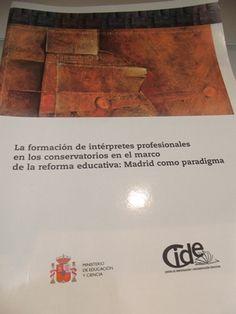 La formación de intérpretes profesionales en los conservatorios en el marco de la reforma educativa : Madrid como paradigma / María del Mar Gutiérrez Barrenechea   L/Bc 79:37 GUT for