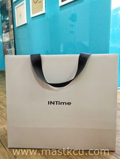 BRAND PAPER BAG: [INTIME-brand paper bag]New clients from Singapore... #paperbag #shoppingbag #company