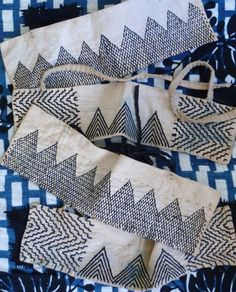Sashiko heel guards. Would make lovely patterns on pillows or quilts.