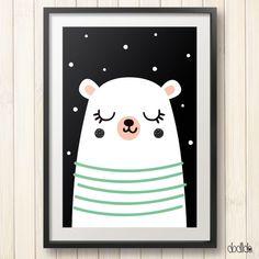 kids poster, children wall art, kids room decor, nursery decor, kids print poster by Dodlido