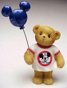 Cherished Teddies Jeri Mickey Mouse Club 1955 with Mickey Mouse Balloon 4002914