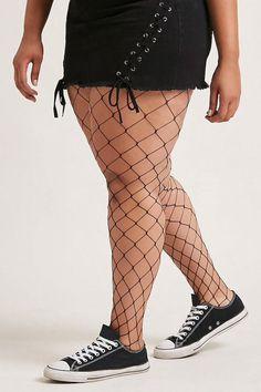 Plus Size Fence Net Pantyhose Cruella De Vil Costume Ideas, Shop Forever, Forever 21, Japan Woman, Printed Tees, Plus Size Outfits, Latest Trends, 21st, Legs