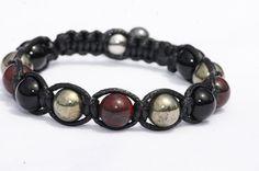 Bracelet  homme pierre de Gemmes Jaspe par blackmustangcreation