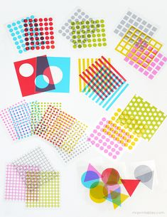 Shapes & Colors Overlay Play Cards - Mr Printables
