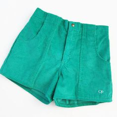 OP Vintage Shorts, High Waisted Shorts, Casual Shorts, Corduroy Shorts, Apron Pockets, Vintage 70s, Swimwear, Cotton, Surf Lodge