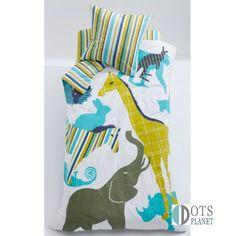Pościel dla dzieci Zwierzęta ZOO 140x200 to ciekawa pościel dla chłopca i dziewczynki w egzotyczne zwierzęta