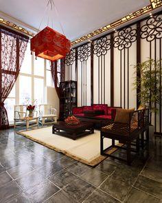 Китайский стиль в интерьере комнаты
