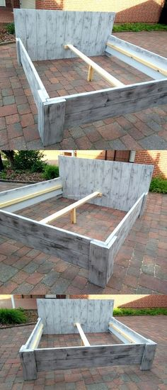 Pallet Bed Frame Ideas Pallet Bed Frame Ideas The post Pallet Bed Frame Ideas appeared first on Pallet Diy. Wooden Bed Frame Diy, Wooden Pallet Beds, Pallet Bed Frames, Diy Pallet Bed, Diy Bed Frame, Diy Pallet Furniture, Wood Beds, Diy Pallet Projects, Woodworking Projects