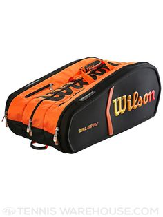 Wilson Tour Molded Tennis Bags with TG2.0 (Black & Orange)