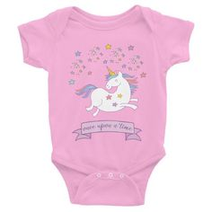 Once Upon A Time Baby Onesie ($26 AUD) available in white, pink, and grey from sizes 3-24 months. Baby Bodysuit, Baby Onesie, Onesies, Baby Girl Gifts, Baby Design, Cool Baby Stuff, Black Unicorn, Baby Wearing, Baby Boy Outfits