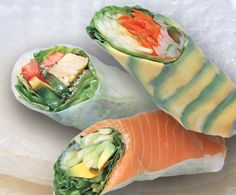 I've been eating these sushi type salad rolls lately. No rice and no seaweed wrapper, but OMG they are so delicious.