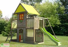 Portique Aire de Jeux Ptit Chatenay Backyard Play, Backyard Sheds, Backyard For Kids, Outdoor Activities For Kids, Toy Craft, Get Outside, Play Houses, Playground, Have Fun