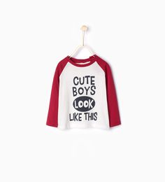 Text print organic cotton T-shirt-T-shirts-Baby boy-Baby | 3 months - 3 years-KIDS | ZARA United States
