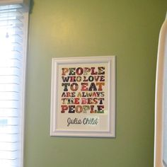 Kitchen Quote Art | mollee made.    time for a crafternoon.