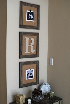 DIY burlap frames love that u can change pictures easily, just clip ' em on. -- Check out this great article. #creativehomedecor