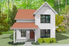 Small House Plans, House Floor Plans, Farmhouse Plans, Modern Farmhouse, Industrial Farmhouse, House With Land, Cottage Plan, Cottage House, Cottage Ideas