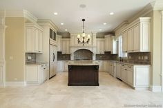 Pictures of Kitchens - Traditional - Off-White Antique Kitchen Cabinets (Page 5)