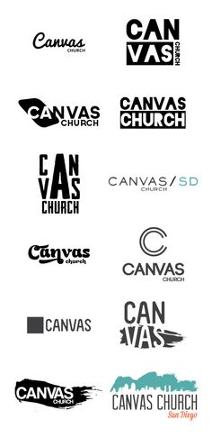 Canvas Church logo ideas by http://apixelpusher.tumblr.com/
