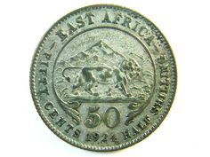 BRITISH EAST AFRICA half SHILLING 1924 J 112 colonial coins , british empire coins , east africa coin