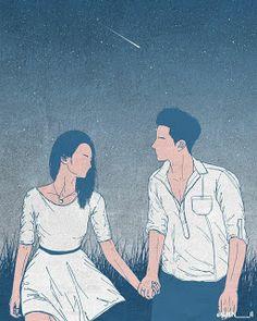 Cute Couple Drawings, Cute Couple Art, Anime Love Couple, Couple Cartoon, Love Drawings, Anime Couples Manga, Cute Anime Couples, Couple Illustration, Illustration Art