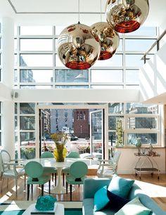 【テラスの屋根までガラス張り】摩天楼の開放的過ぎるペントハウス | 住宅デザイン