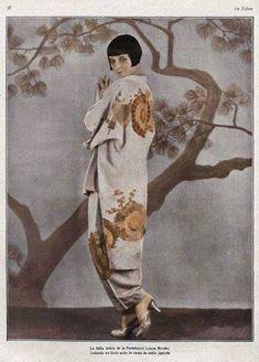 Louise Brooks in a kimono