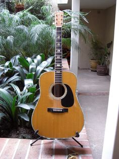 """He has an impressive guitar collection, but as a long-time, loyal fan, this one holds the most significance for me: """"Now this old martin D41 is my soul it has been everywhere with me and is the best acoustic I have ever played. I have written some of my best songs on it. It's a special guitar."""" -Frank Stallone"""