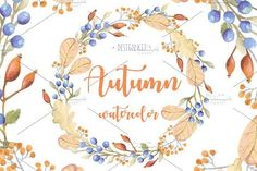 Watercolor Autumn Design Kit by Luna Dreams on @creativemarket