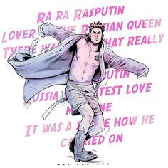 "May Ventura (She/her) on Instagram: ""There's no DANCING in Supernatural #deanwinchester #winchester #dance #rasputin #samwinchester #spn #spnfamily #spnfamilyforever…"" Destiel Fanart, Supernatural Drawings, Rasputin, Sam Winchester, Joker, Fan Art, Dance, Memes, Movie Posters"
