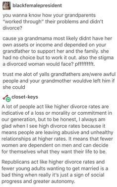 Divorce rates. Feminism.