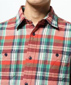 coen MENS ヘビーネルチェックワークシャツ ¥5,076税込