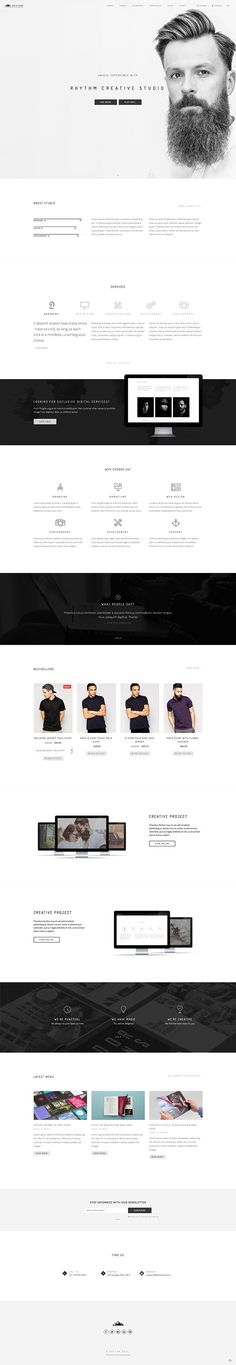 Web Design Inspiration - portfolio - profile - minimal - hipster - Scandinavian - black and white - grayscale - modern
