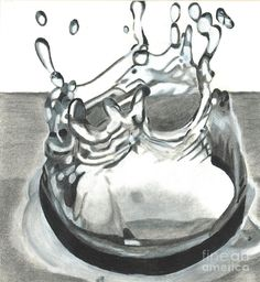 Water Drop by Martha Booysen - Water Drop Drawing - Water Drop Fine Art Prints and Posters for Sale
